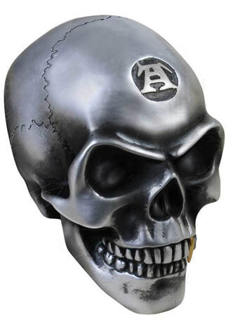 Large Metalized Colored Skull