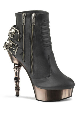 MUERTO-900 Platform High Heels with Skull Buckles