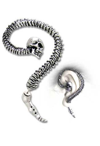 Necacrosome Earring Cuffs