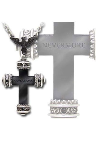 Nevermore Cross Necklace