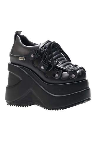 OUTLAW-101 Black Platform Shoes