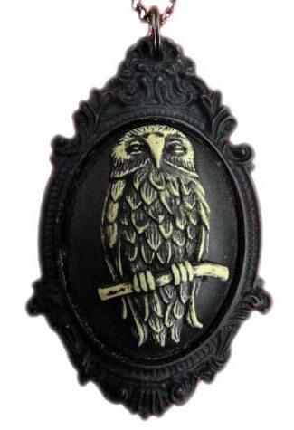 Owl Resin Cameo Pendant