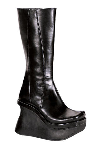 PACE-100 Black Platform Boots - Clearance