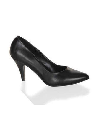 PUMP-420 Black PU Pumps