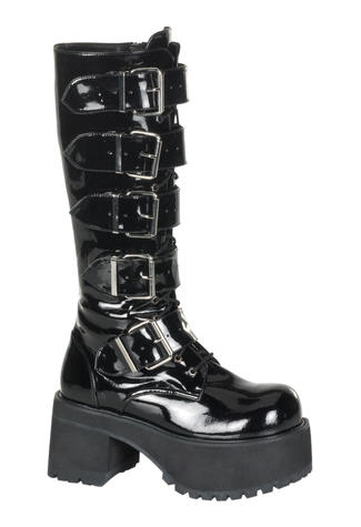 RANGER-318 Patent Buckle Boots