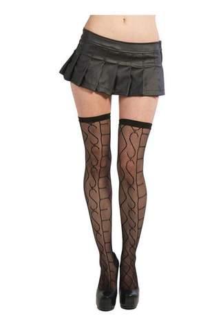 Sex Black Nylon Thighighs