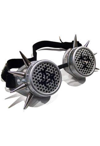 Biohazard Silver Spike Goggles