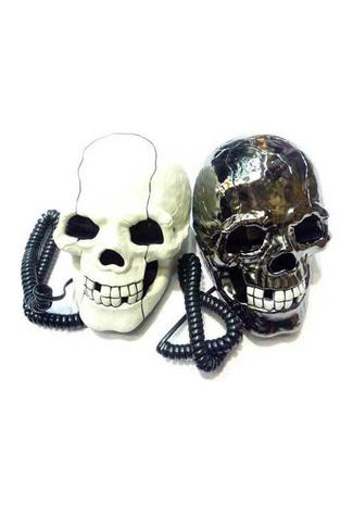 Gunmetal or White Skull Phone