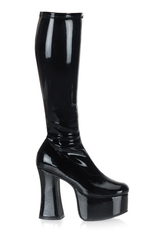 SLICK-100 Black Patent Platforms