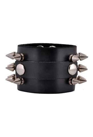 Spike Leather Wristband