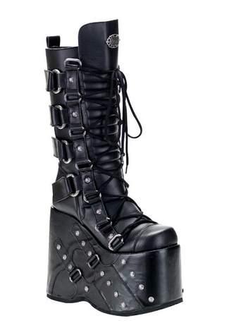 STACK-318 Black Platform Boots