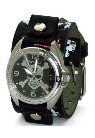 Cross Bones Skull (Black) Watch