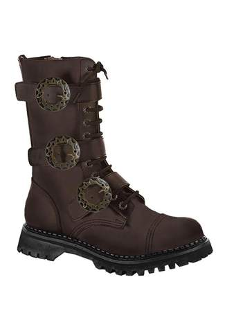 STEAM-12 Brown Steampunk Boots