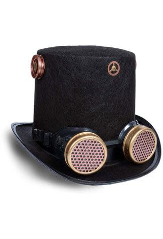 Steampunk Goggles Hat
