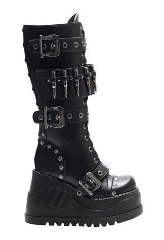STOMP-314 Black Platform Boots