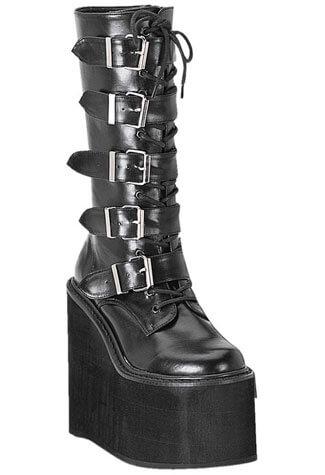 SWING-220 Black PU Boots