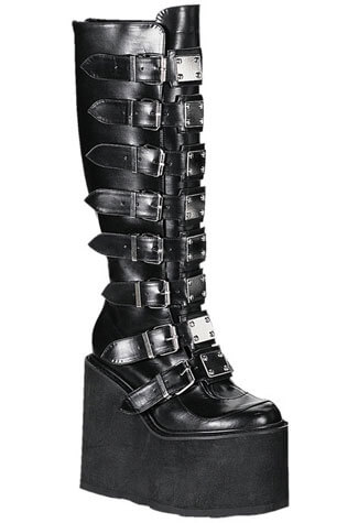 SWING-815 Black Metal Boots