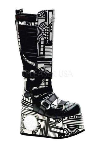 TECHNO-856UV Black Cyber Boots - Clearance