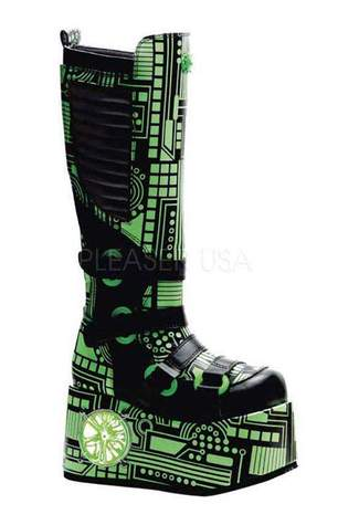 TECHNO-856UV Green Cyber Boots - Clearance