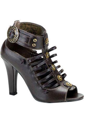 TESLA-05 Brown Steampunk Boots