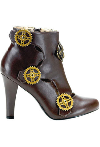 TESLA-12 Brown Steampunk Boots