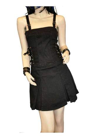Black Ruffle Dress - Clearance