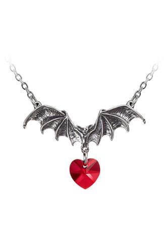 Vampire Loveheart Pendant Necklace