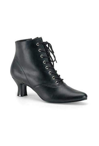 VICTORIAN-35 Black Victorian Boots