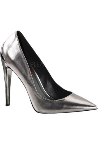 VOLTAGE-01 Chrome High Heels