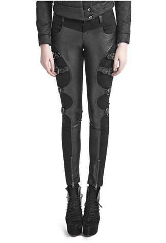Warrior Leather Look Pants