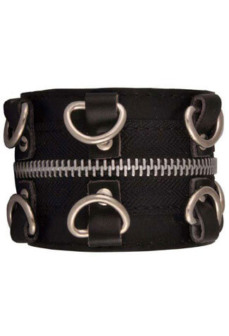 Zipper and D-Rings Wristband
