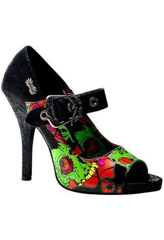 ZOMBIE-07 Black High Heels