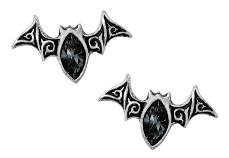 Viennese Nights Bat Stud Earrings