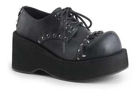 DANK-110 Black Vegan Leather Shoes