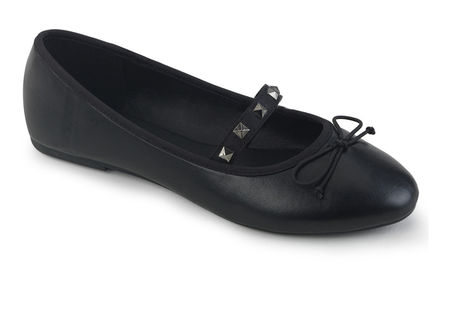 DRAC-07 black vegan leather flats