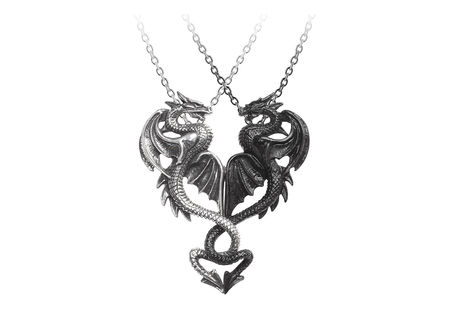 Draconic Tryst Dual Dragon Necklace