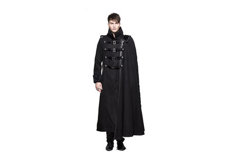 Drake Gothic Trench Coat With Side Cape