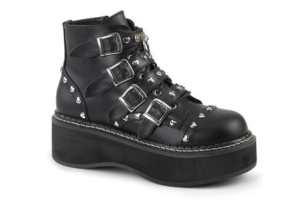 EMILY-315 Heart Studded Platform Boots