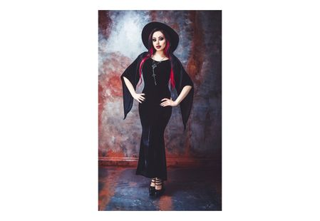 Freya Gothic Velvet Maxi Dress
