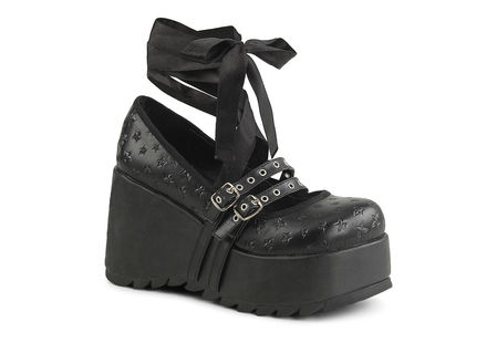 Scene-20 star platform shoes by Demonia
