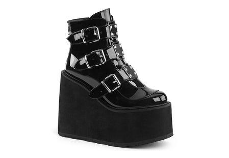 SWING-105 Patent Leather Platform Boots