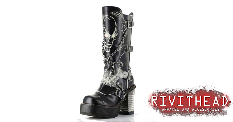 Spawn Black Skull Boots By Hades Rivithead