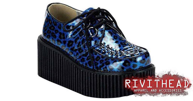 Creeper 208 Blue Leopard Creepers