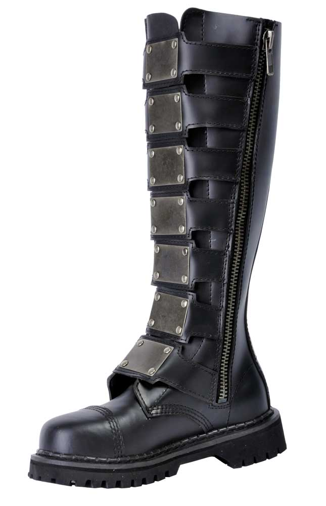 Reaper 30 black leather combat boots for Combat portent 30 20
