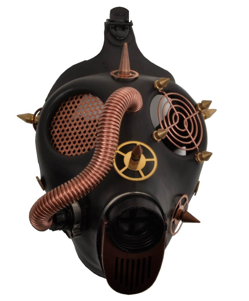 Steampunk leather mask by Psychomatic on Etsy