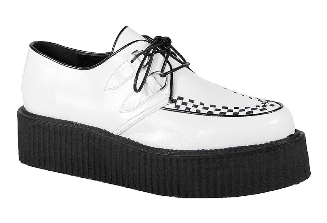 Black Wedge Creeper Shoes